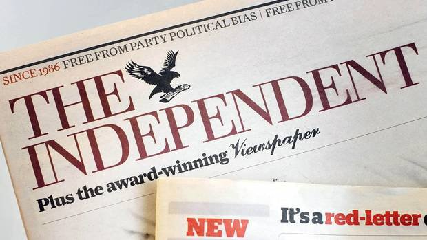 newspaper The Independent